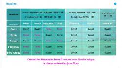 horaires dechetteries