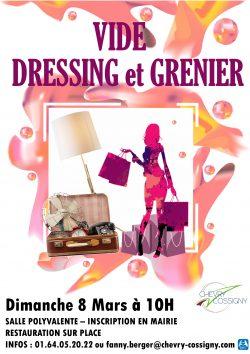 Affiche VIDE DRESSING 2020 27 JANVIER