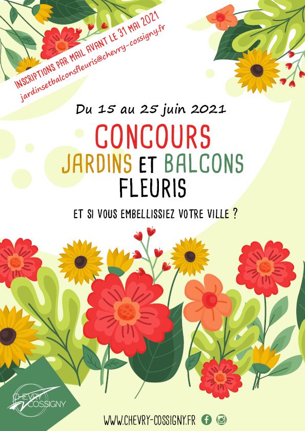 Affiche concours jardins et balcons fleuris 2021